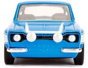 Fast & Furious Modellino Ford Escort Bianca/Blu Brian Die Cast Scala 1:32 Jada Toys