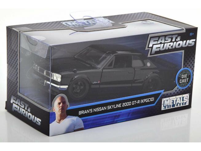 Fast & Furious Modellino Nissan Skyline 2000 GT-R di Brian Die Cast Scala 1:32 Jada Toys