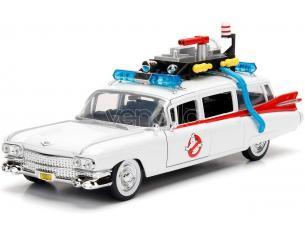 JADA Cadillac Ghostbusters ECTO-1 1959 Die Cast 1:24 Funzionamento a Ruota Libera