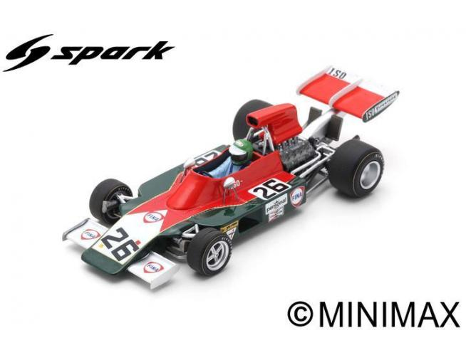 SPARK MODEL S7574 ISO IR HENRI PESCAROLO 1973 N.26 10th GERMAN GP 1:43 Modellino
