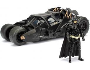 JADA TOYS Batman Batmobile Il Cavaliere Oscuro con Personaggio Die Cast 1:24