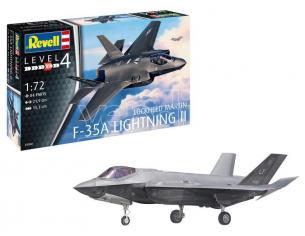 REVELL RV03868 F-35A LIGHTNING II LOCKEED MARTIN KIT 1:72 Modellino