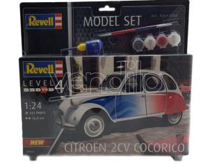 REVELL RV67653 CITROEN 2 CV COCORICO MODEL SET KIT 1:24 Modellino