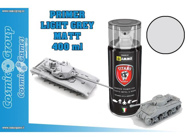 TITANS HOBBY LIGHT GREY MATT PRIMER - 400MLSPRAY COLORI