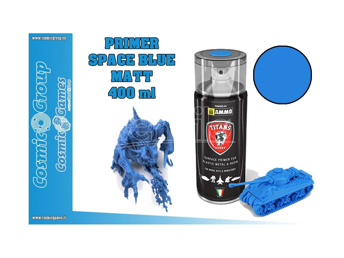 TITANS HOBBY SPACE BLUE MATT PRIMER - 400ML SPRAY COLORI