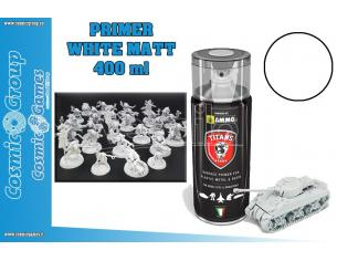 TITANS HOBBY WHITE MATT PRIMER - 400ML SPRAY COLORI