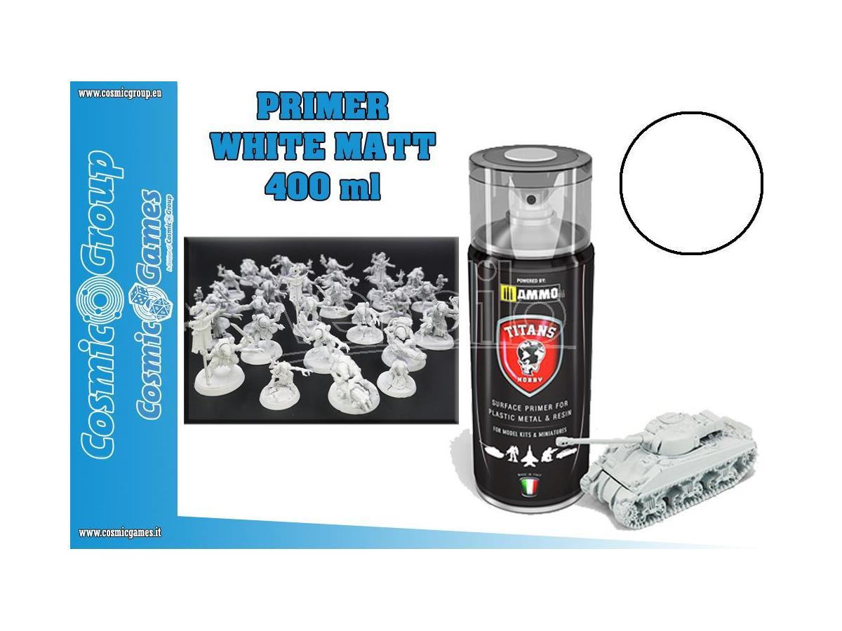 TITANS HOBBY WHITE MATT PRIMER - 400ML SPRAY COLORI