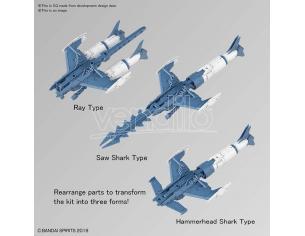 BANDAI MODEL KIT 30MM EX ARM VEH ATTACK SUB BLUE/GR 1/44 MODEL KIT
