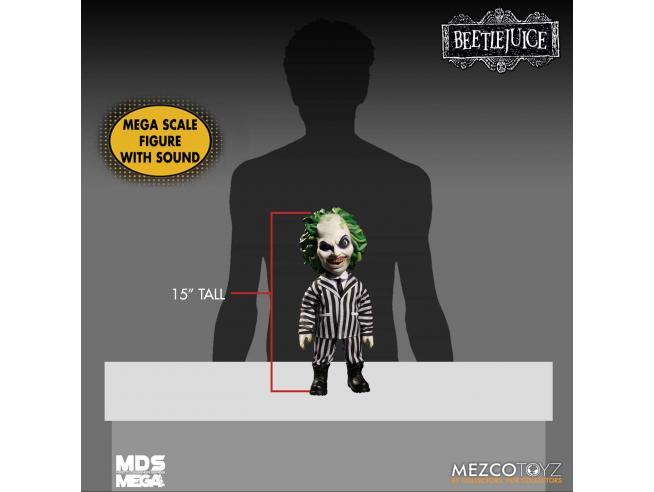 Mezco Toys Beetlejuice Mega Scale Talking Figura Action Figure