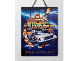 BACK TO THE FUTURE WOOD POSTER 2 POSTER DOCTOR COLLECTOR