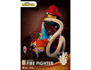BEAST KINGDOM D-STAGE MINIONS FIRE FIGHTER STATUA