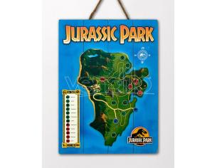 DOCTOR COLLECTOR JURASSIC PARK WOODEN MAP POSTER POSTER