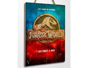 DOCTOR COLLECTOR JURASSIC WORLD LOGO WOODEN POSTER POSTER
