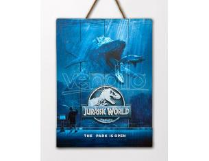 DOCTOR COLLECTOR JURASSIC WORLD MOSSA WOODEN POSTER POSTER