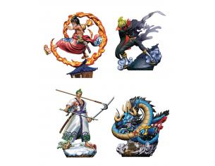 MEGAHOUSE ONE PIECE LOGBOX REBIRTH WANOKUNI DISP(4 MINI FIGURA
