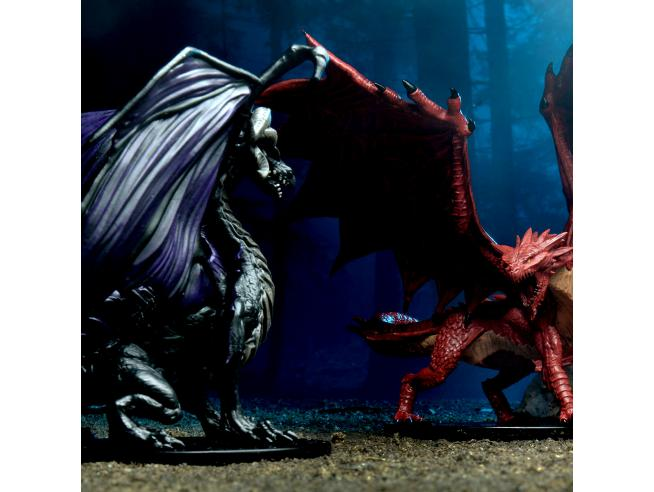 WIZKIDS PATHFINDER PREM. RED&BLACK ADULT DRAGONS MINI FIGURA