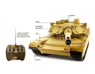 Cararama Motorama MTM9869 CARRO ARMATO M1A2 ABRAMS RADIOCOMANDO 1:24 Modellino