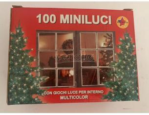 Collana luminosa 100 miniluci con giochi luce Addobbi decorazioni Natale