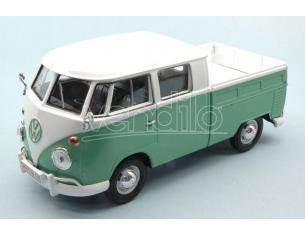 Motormax MTM79343TQ VW TYPE 2 (T1) PICK UP WHITE/GREEN 2 TONE 1:24 Modellino