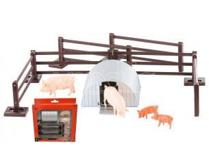 BRITAINS LC43140 RECINTO SUINI PIG PEN SET 1:32 Modellino