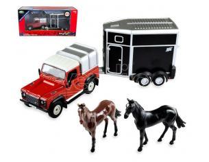 BRITAINS LC43239 LAND ROVER HORSE SET 1:32 Modellino