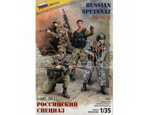 Zvezda Z3561 RUSSIAN SPECIAL FORCES KIT 1:35 Modellino