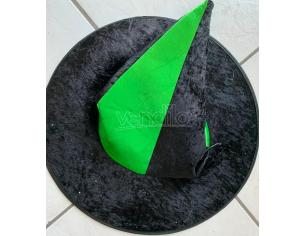 CAPPELLO STREGA IN LICRA NERO E VERDE ACCESSORI HALLOWEEN