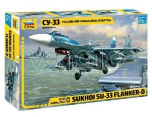 Zvezda Z7297 SUKHOI SU-33 FLANKER-D RUSSIAN NAVY FIGHTER KIT 1:72 Modellino