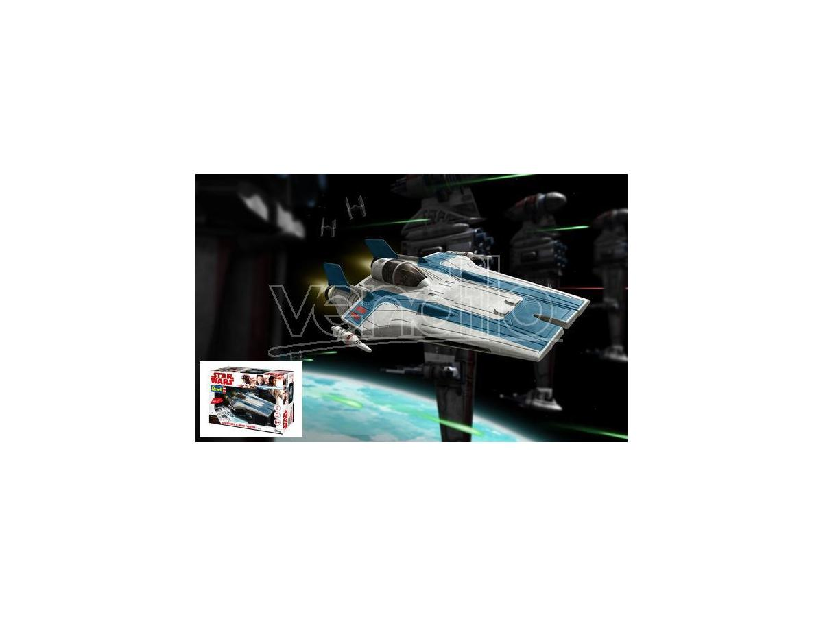REVELL RV06762 STAR WARS RESISTANCE A-WING FIGHTER BLUE KIT 1:44 Modellino
