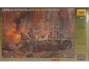 ZVEZDA Z3610 GERMAN ANTI TANK GUN PAK KIT 1:72 Modellino