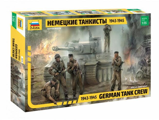ZVEZDA Z3614 GERMAN TANK CREW WWII LATE KIT 1:35 Modellino