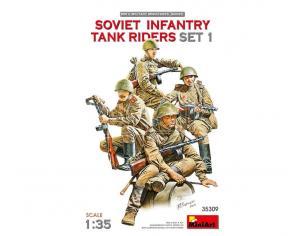 MINIART MIN35309 SOVIET INFANTRY TANK RIDERS SET 1 KIT 1:35 Modellino