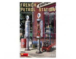 MINIART MIN35616 FRENCH PETROL STATION 1930-40S KIT 1:35 Modellino