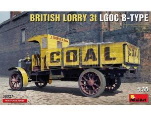 MINIART MIN38027 BRITISH LORRY LGOC 3t B-TYPE KIT 1:35 Modellino