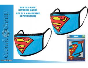 PYRAMID INTERNATIONAL DC SUPERMAN LOGO FACE COVER.MASK SET(2) MASCHERA