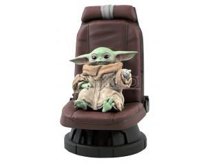 Star Wars Statua The Mandalorian Yoda Bambino Seduto Scala 1/2 Diamond Select
