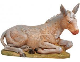 Fontanini 203 - Statuina Presepe: Asino Seduto Resina 30 cm