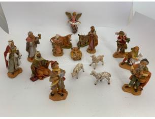 Fontanini 4153 - Statuine Presepe: Personaggi per Presepe 16 Pezzi Resina 12 cm