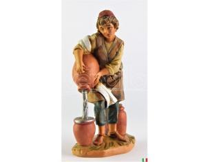 Fontanini 437 - Statuina Presepe: Pastore con Anfora Resina 12 cm