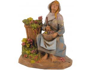 Fontanini 471 - Statuina Presepe: Pastorella con Vaso Resina 12 cm