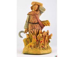 Fontanini 481 - Statuina Presepe: Pastore con Falce e Grano 12 cm