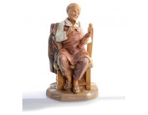"Fontanini 473 - Statuina Presepe: Pastore ""Fondatore"" Resina 12 cm"