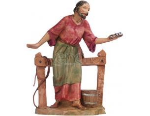 Fontanini 4818 - Statuina Presepe: Stalliere con Staccionata Resina 12 cm