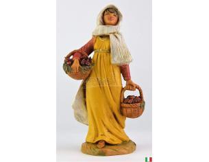 Fontanini 4817 - Statuina Presepe: Pastorella con Fichi Resina 12 cm