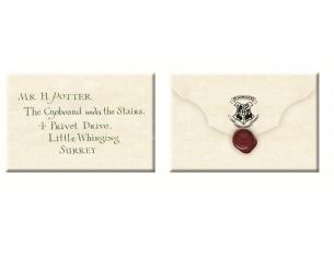 Harry Potter  Set Magnete Lettera Di Accettazione A Hogwarts Di  5,5 X 8 Cm Noble