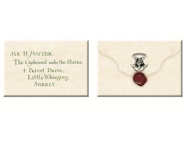 Set Magnete Lettera di Accettazione a Hogwarts di Harry Potter 5,5 x 8 cm Noble