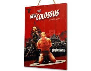 DOCTOR COLLECTOR WOLFENSTEIN COLOSSUS WOODEN POSTER POSTER