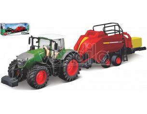 BBURAGO BU31663 FENDT 1050 VARIO TRACTOR + BALE LIFTER cm 27 Modellino