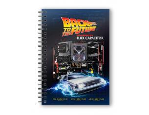 BACK TO THE FURE POWERED BY FLUX CAPACITOR NOTEBOOK TACCUINO SD TOYS