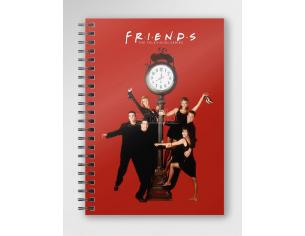SD TOYS FRIENDS RED SPIRAL NOTEBOOK TACCUINO